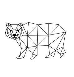 polygonal fox vector image vector image