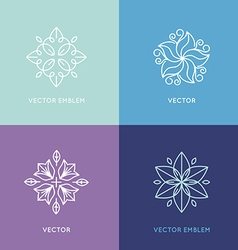 Set of logo design templates and symbols in trendy vector