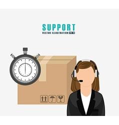 Support service design vector