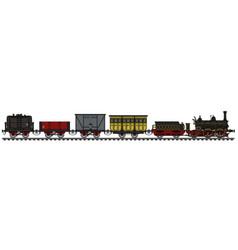 Vintage steam train vector