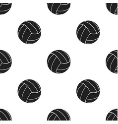 volleyball icon black single sport icon from the vector image vector image