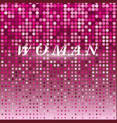 woman on pink dot halftone abstract background vector image