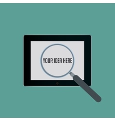 Your Idea Zoom vector image vector image