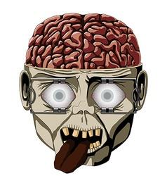 Zombie open brain vector image vector image