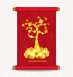 Chinese new year traditional chinese handscroll of vector