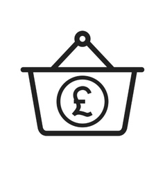 Pound basket vector