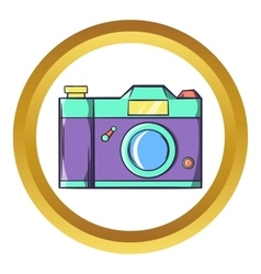 Retro hipster photo camera icon vector image