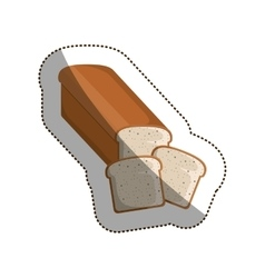 Isolated bread toast design vector