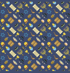 Jew icons seamless pattern vector