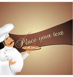 Chef background vector