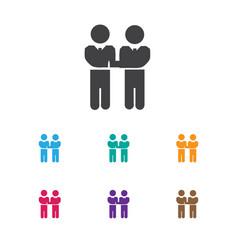 of job symbol on meeting icon vector image