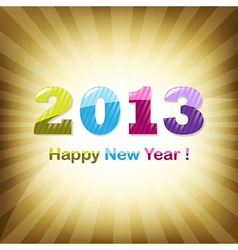 Golden New Year Design Template vector image