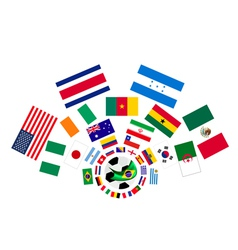 The 32 nations in the brazil 2014 vector