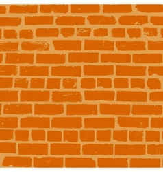 Simple background of old brickwork design vector