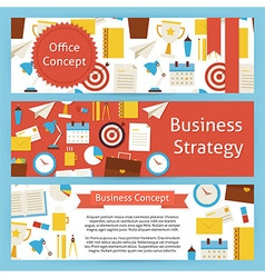 Office concept and business strategy template vector
