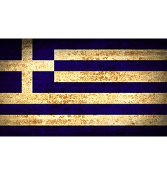 Flags greece with dirty paper texture vector