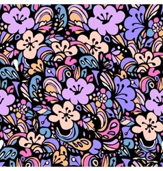 Floral pattern blue vector