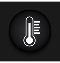 Modern thermometer black circle icon vector