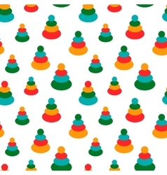 Seamless pattern with colorful baby toys for vector