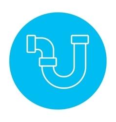 Water pipeline line icon vector