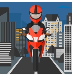 Woman riding motorcycle vector