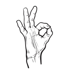 Fingers are doing ok symbol vector