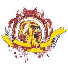 grunge emblem vector image
