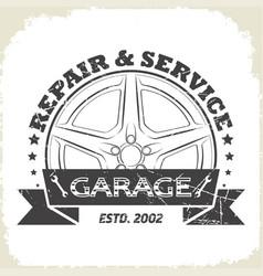 auto wheel garage vector image vector image