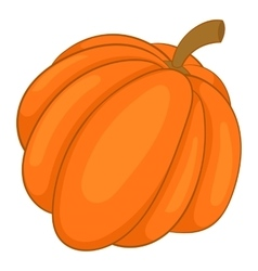 Autumn pumpkin vegetable icon cartoon style vector