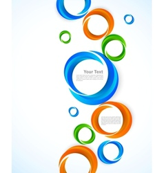 Background with colorful circles vector image