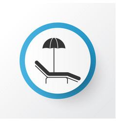 Beach icon symbol premium quality isolated relax vector