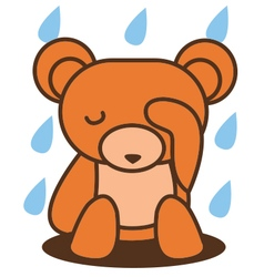 Bear sad vector