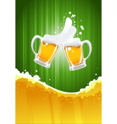 beer splashing vector image vector image