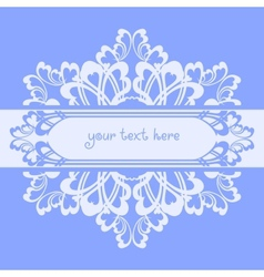 Blue ornate background vector