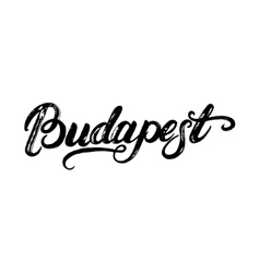 Budapest hand written calligraphy lettering for vector