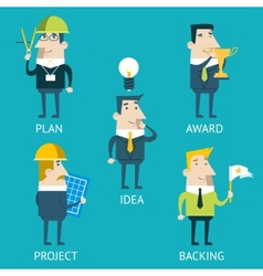 Businessman Cartoon Characters Business and vector image