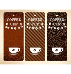 coffee cup banners vector image vector image