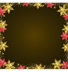 Decorative glitter holiday frame vector