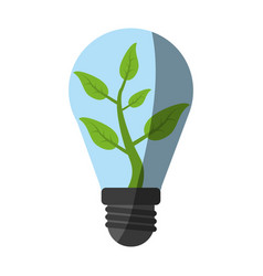 Eco friendly lightbulb green idea icon image vector