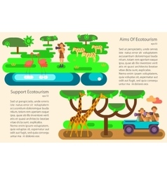 Eco tourism concept vector