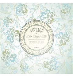 elegant vintage invitation vector image