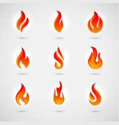flame icons vector image vector image