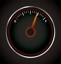 fuel dial vector image vector image