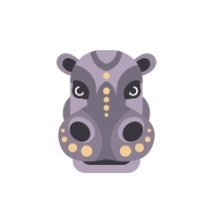 Hippo african animals stylized geometric head vector