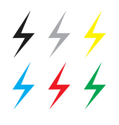 Lightning bolt icon vector