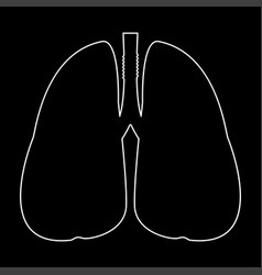 Lungs the white path icon vector