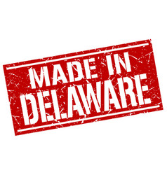Made in delaware stamp vector