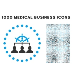 Management Icon with 1000 Medical Business vector image vector image