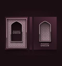 modern vertical banners ramadan kareem cover vector image