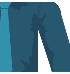 necktie shirt blue cloth male man icon vector image vector image